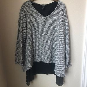 Style & CO Sweater Blouse Size 3X